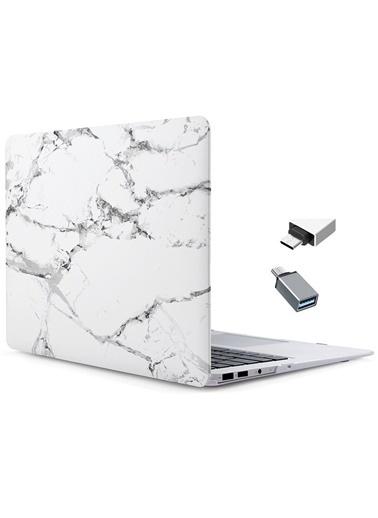 "Mcstorey MacBook Retina A1534 A1931 12"" Kılıf Sert Kapak Koruma Hard Incase Mermer Renksiz"